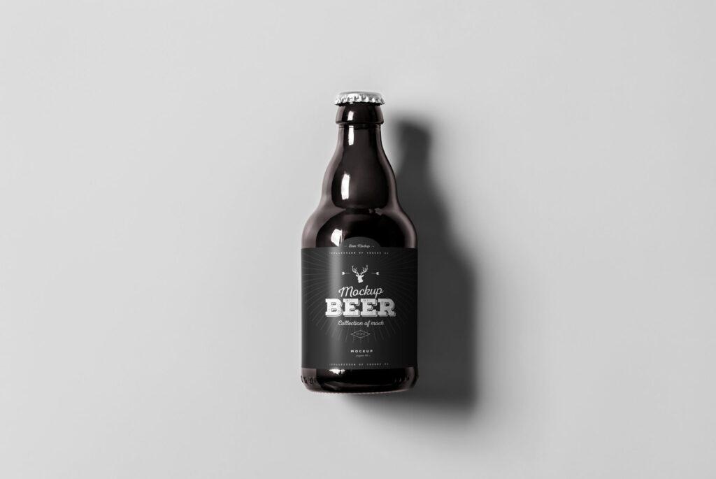 啤酒品牌包装/啤酒瓶包装模型样机模型下载Beer Mockup 2 DV9XAA插图(2)