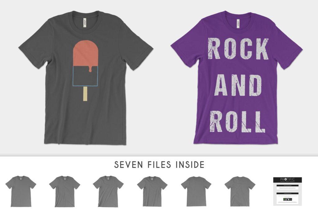 4K分辨率男士T恤展示效果样机素材Bella Canvas 3001 T Shirt Mockups插图(2)