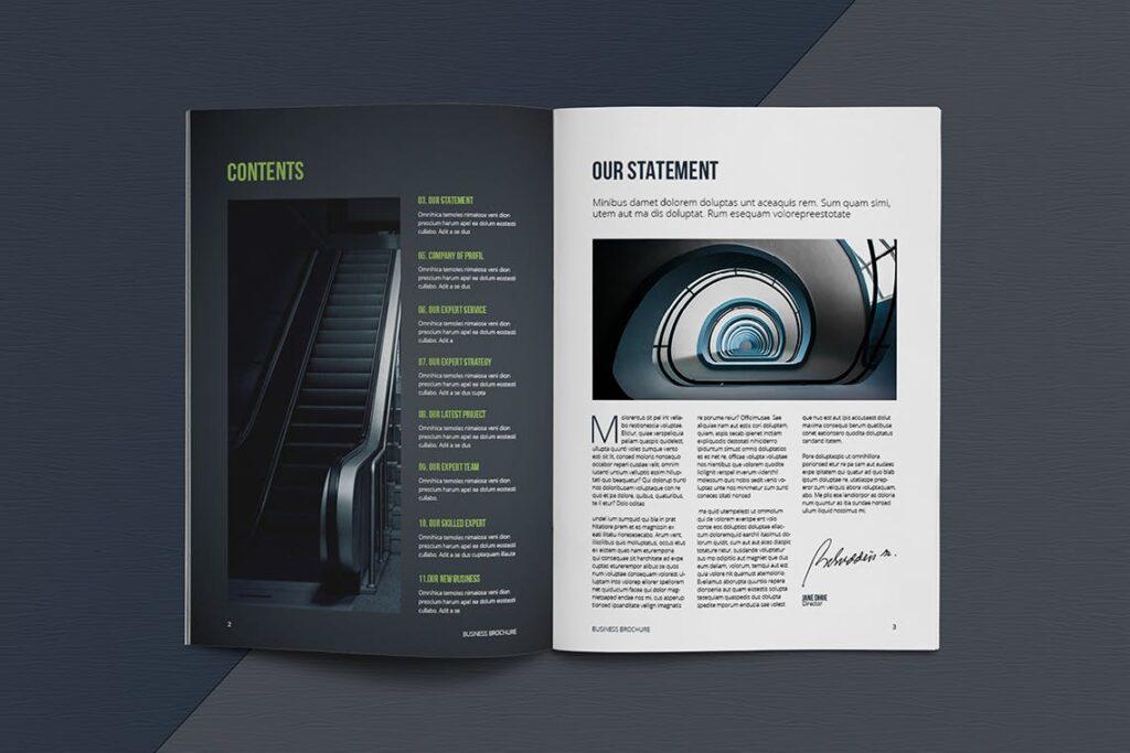 整洁典现代专业的企业商务手册模板Business Brochure Template DV95G插图(2)