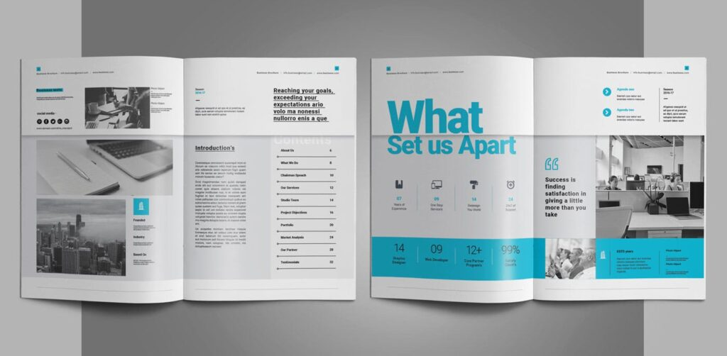 企业简介商务手册历史介绍杂志画册模板Business Profile插图(2)