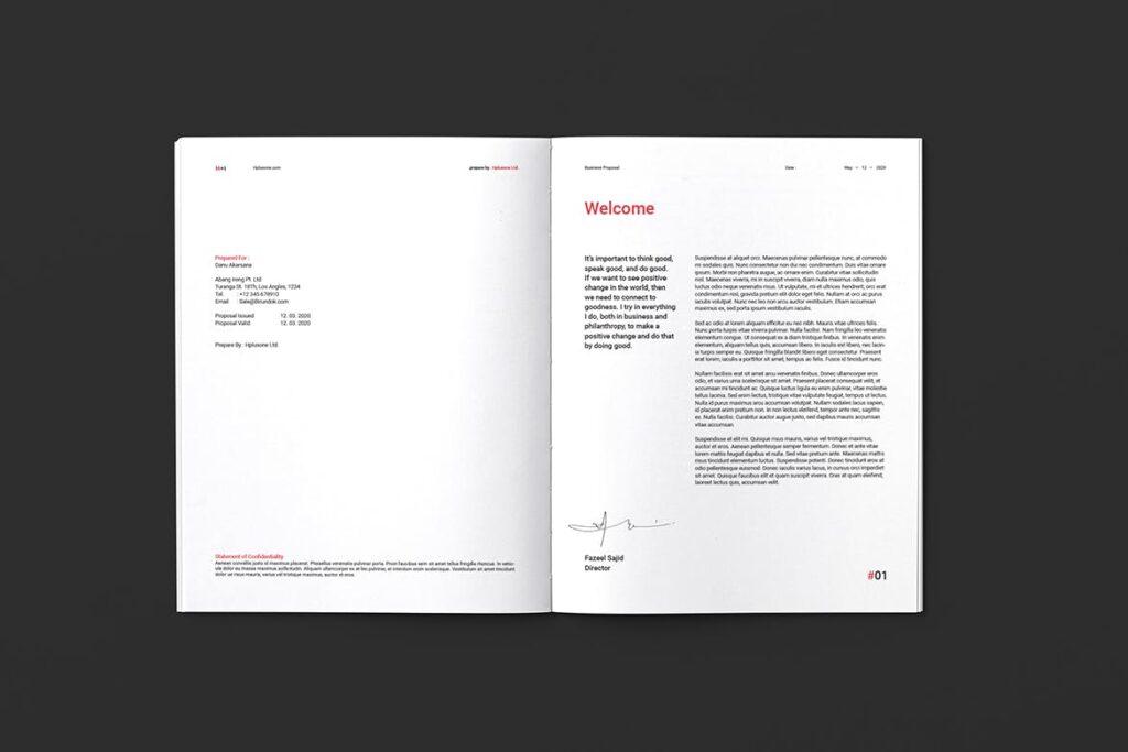 公司手册项目企划书画册模版素材Business Proposal插图(2)