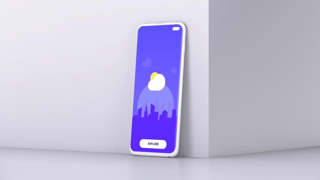 UI作品包装样机模型/三星Galaxy S10 Plus模型样机效果图Clay Mobile Mockup D97YTXQ插图(2)