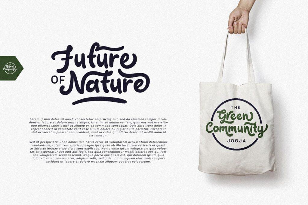 电商购物品牌海报宣传手写英文衬线字体下载Claytonia Bold Script插图(1)
