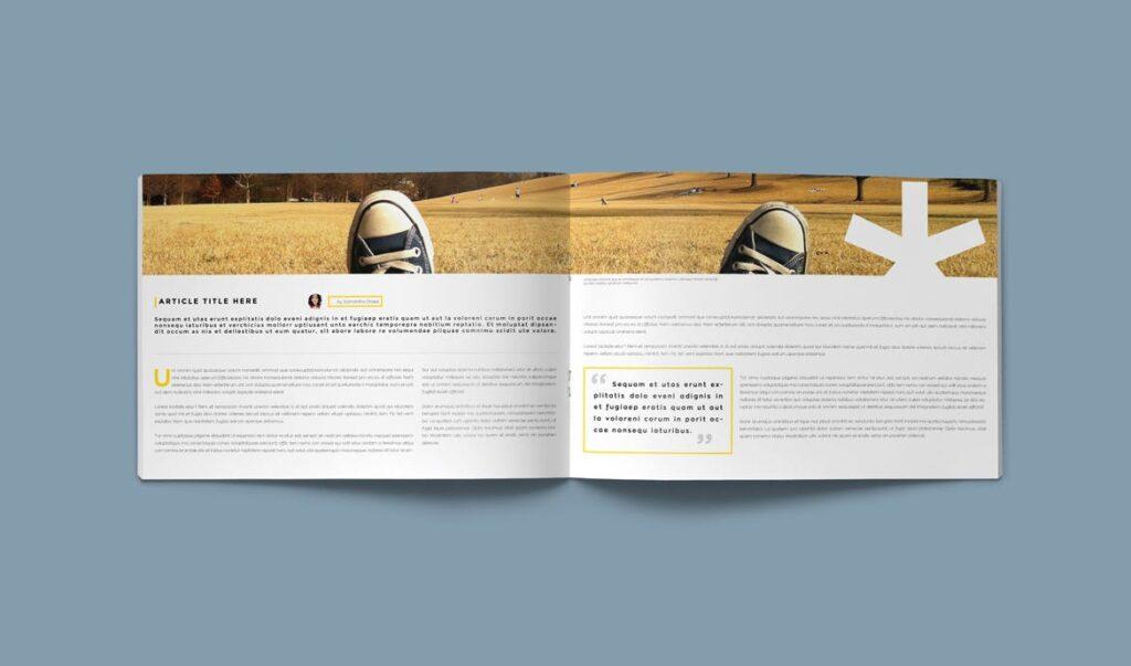 横版企业小册子/目录模板画册杂志模板Clean Brochure Catalog Template插图(2)