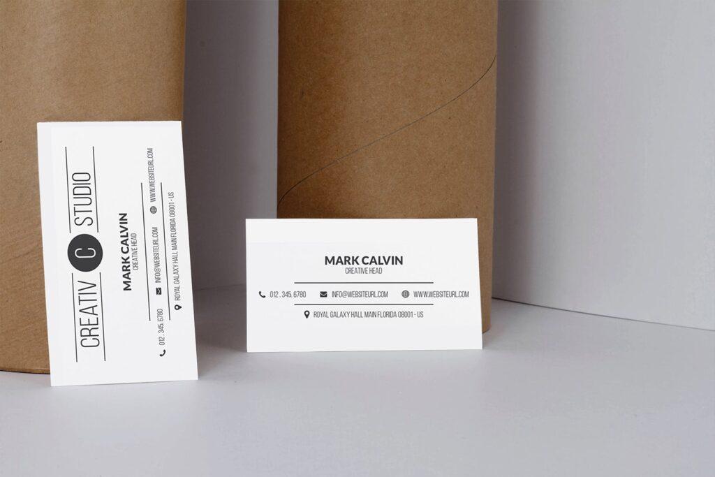 商务简约名片模型样机下载Clean Business Card Mock Up插图(2)