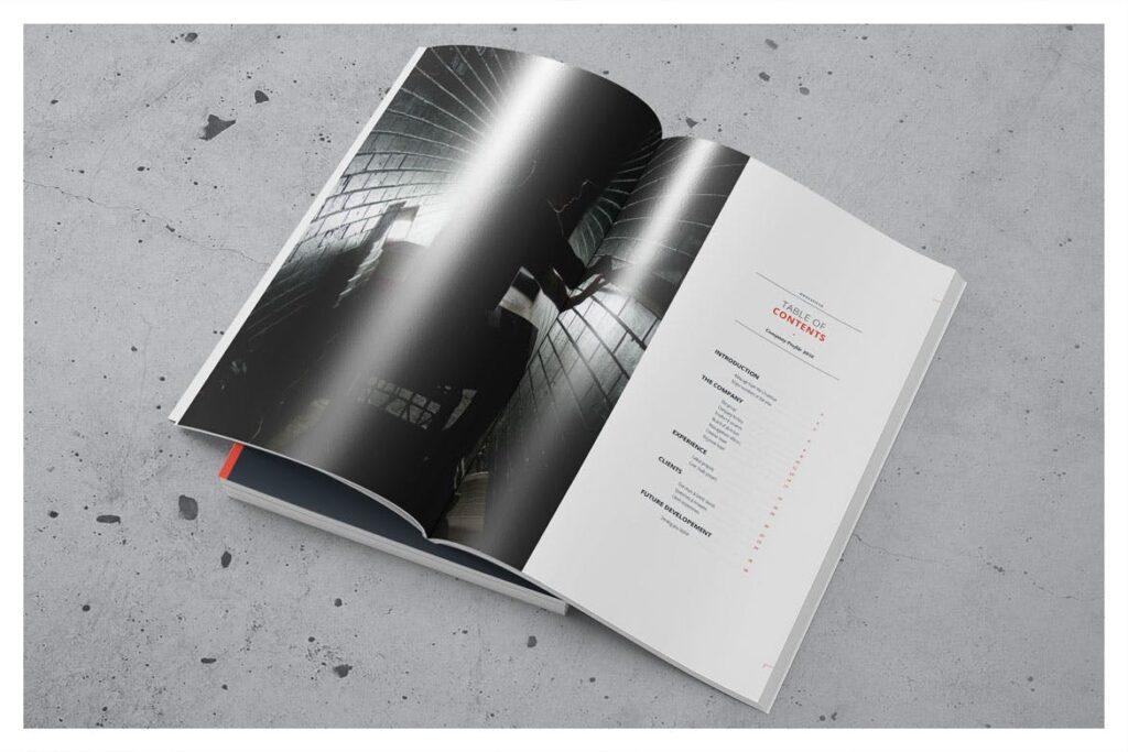 公司动态展示商业手册优雅简洁画册杂志模板Company Profile 001插图(1)