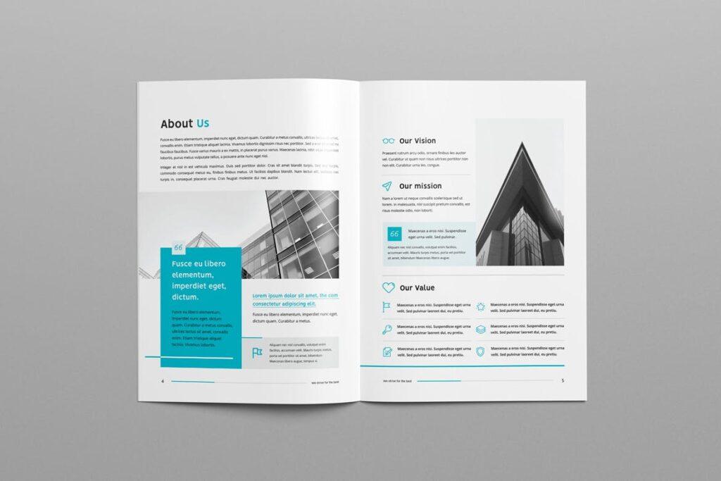 公司简介企业画册商务手册杂志模板素材Company Profile Z2NA6V插图(2)