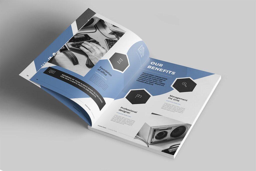 公司简介画册杂志模板素材下载Company Profile YT7HTG插图(2)