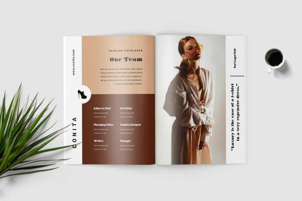 高端服装品牌季节流行单品杂志模版Conita Fashion Lookbook Magazine插图(2)