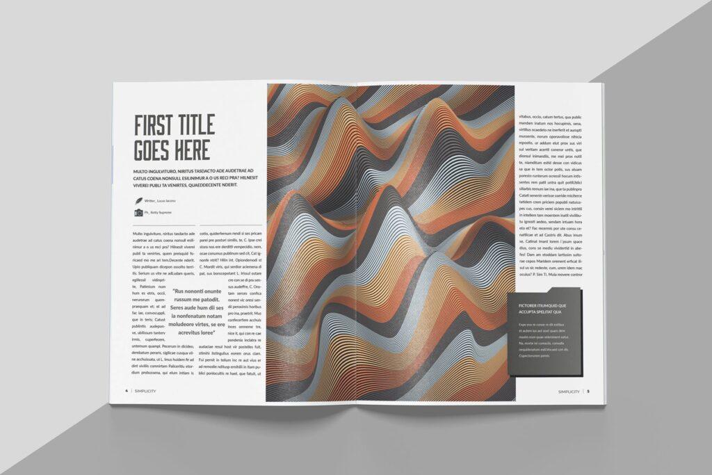 艺术品绘画作品展览画册杂志模板Create Magazine Template插图(2)