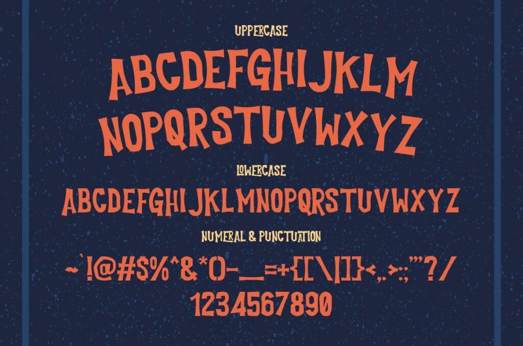经典的恐怖漫画和海盗文化海报装饰字体Cutlass Typeface Lite插图(2)