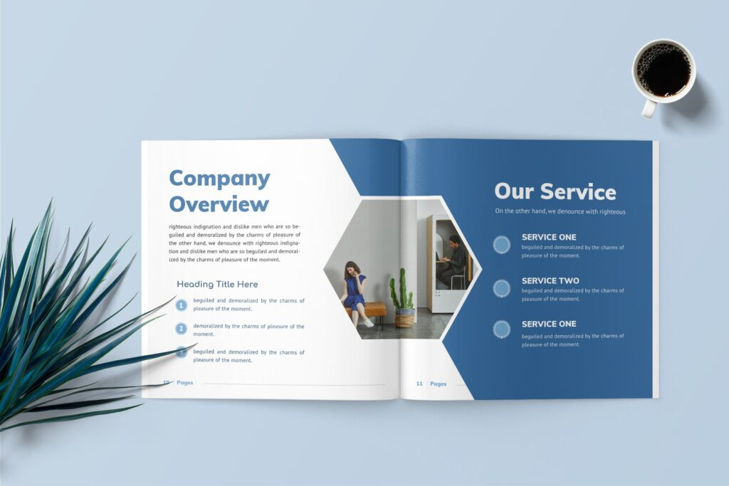 企业商务手册/内部手册杂志模版素材Delano Business Portfolio Template插图(2)