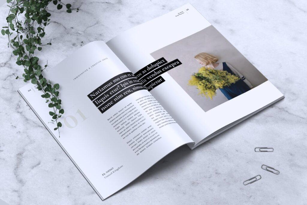 高端企业品牌宣传画册模板ELNINO Minimal Magazine插图(2)