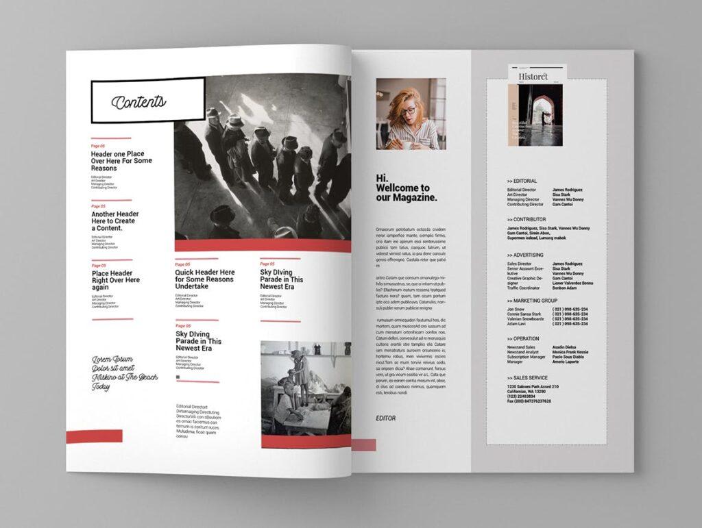 大纪元历史记录风格杂志画册模板素材Epoch Magazine Template插图(2)