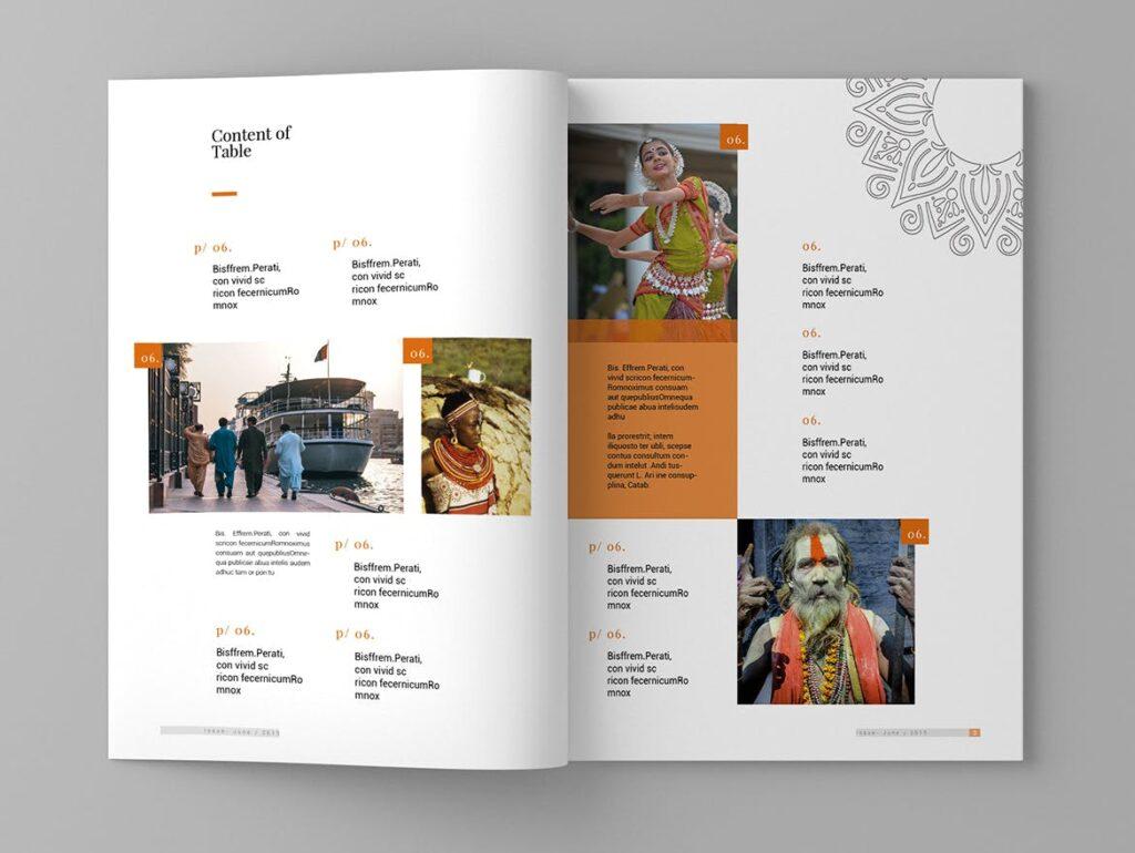 少数民族特色文化主题杂志模板Ethnic Magazine Template插图(2)