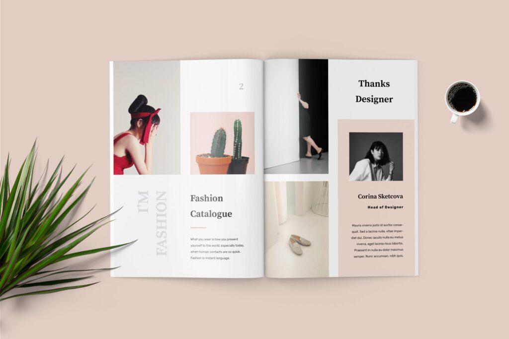 女性时尚服装高端品牌品牌画册模板Fashion Lookbook Catalogue插图(2)