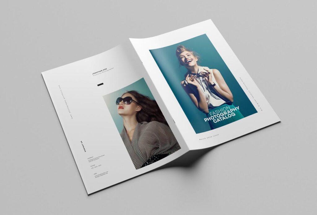 时尚摄影简洁板式画册杂志模板素材下载Fashion Photography Catalog Brochure插图(2)