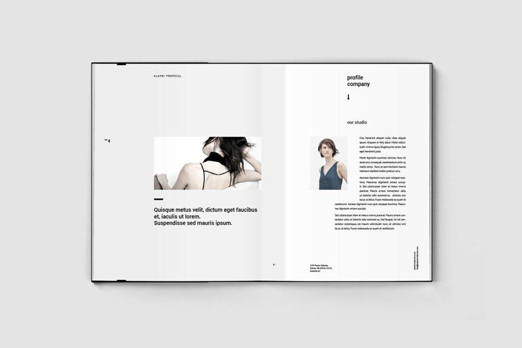 多用途商务手册企业画册模版素材Fashion Proposal插图(2)