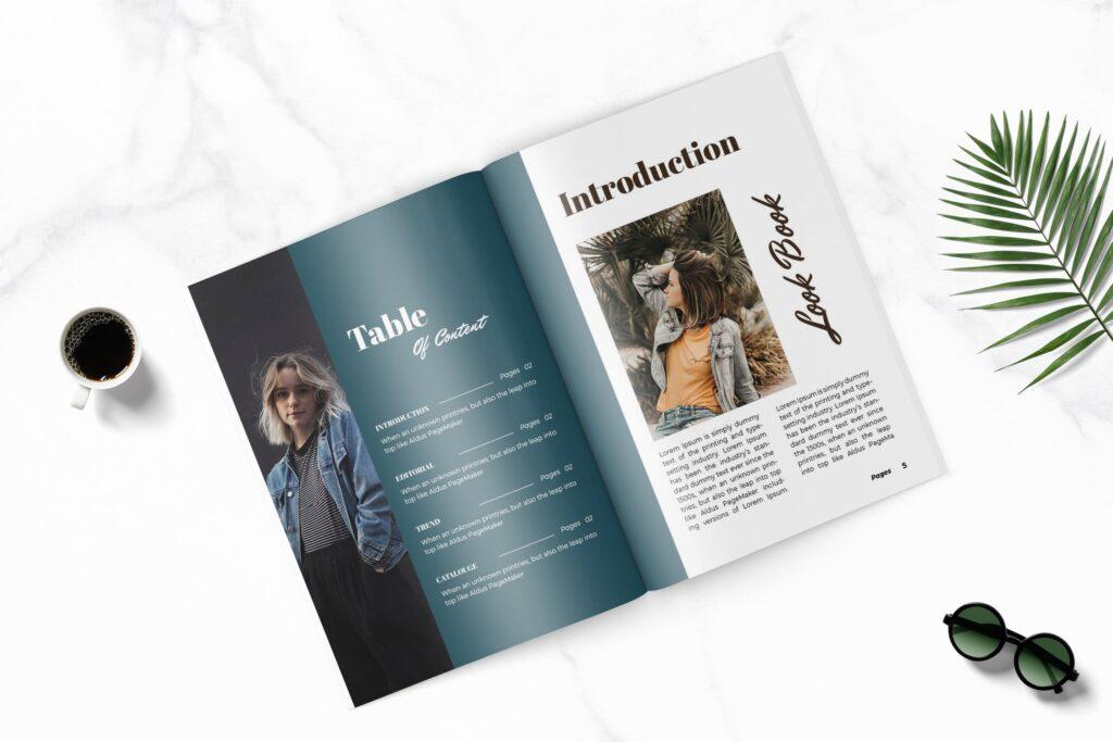 多用途企业产品商务手册模板素材Feels Fashion Magazine Template插图(2)