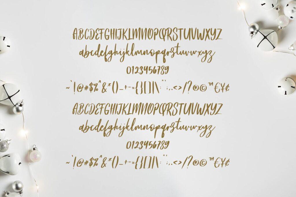 文艺浪漫主题/婚礼邀请函无衬线英文字体Frances Modern Font插图(2)