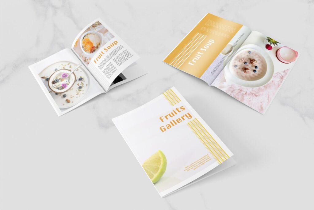 养生食品美食餐饮料理画册杂志下载Fruits Food Magazine Template插图(2)