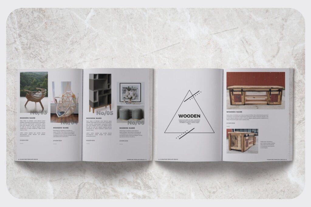 家具设计/室内设计画册杂志模版设计Furniture Collection Lookbook插图(2)