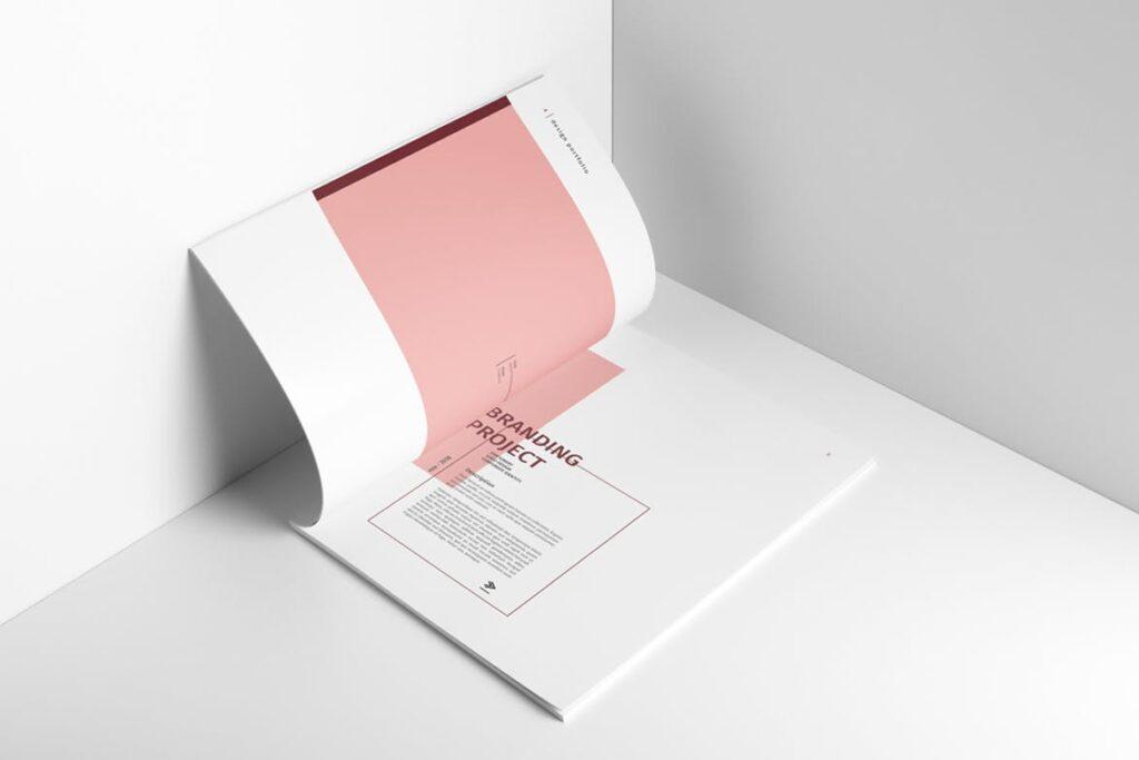精致文艺室内设计画册模版素材Graphic Design Portfolio Template插图(2)
