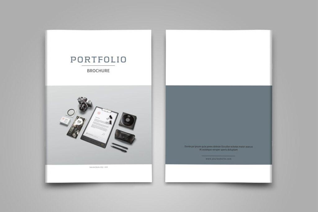 精致文艺平面设计作品集画册模板素材Graphic Design Portfolio Template插图(2)