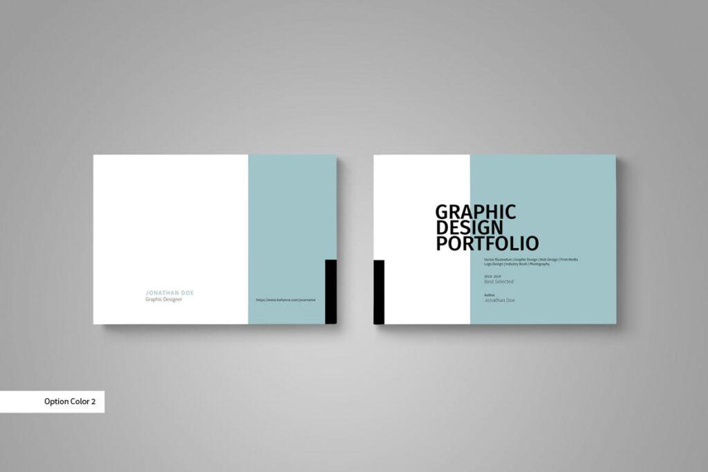 设计师工作产品/室内设计/家居设计展示画册模版Graphic Design Portfolio Template插图(2)