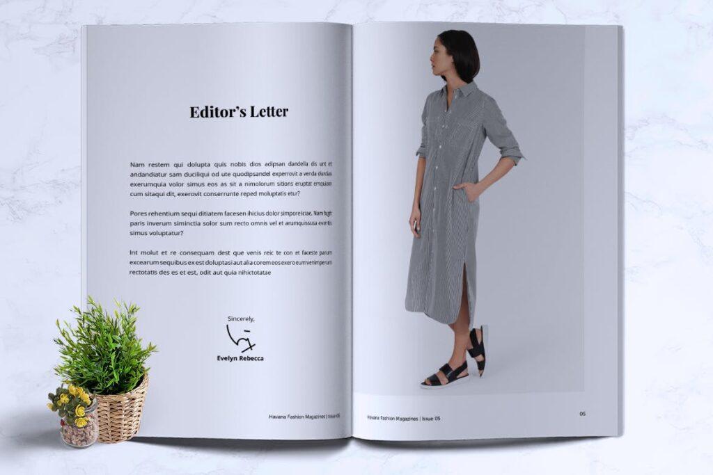 简约风格摄影工作室画册杂志模板HAVANA Minimal Magazine Fashion插图(2)