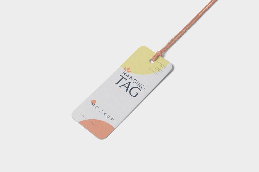 方形/圆形服装吊牌模型样机素材下载Hanging Tag Mockups NG5P4SM插图(2)