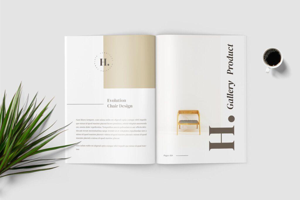 欧美家居/产品介绍画册杂志模版素材Hilary Furniture Magazine Template插图(2)