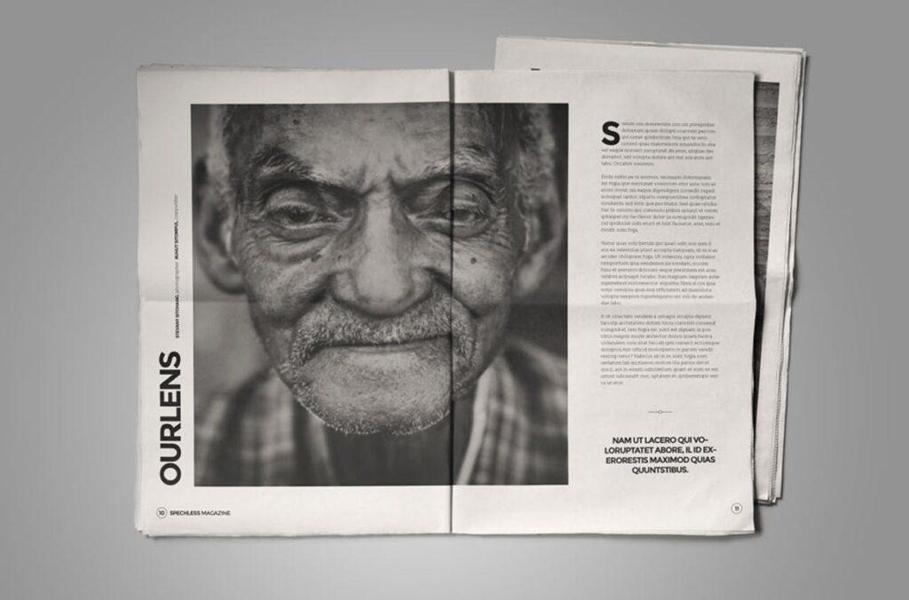 黑白风格历史介绍杂志模版素材InDesign Magazine Template WBM4TW插图(2)