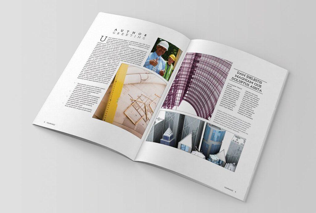 建筑行业/建筑设计作品介绍模板Indesign Magazine Template插图(2)