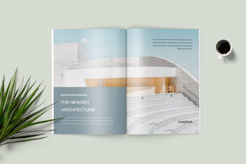 经典建筑设计类主题画册杂志模版Kmona Furniture Magazine Template插图(3)