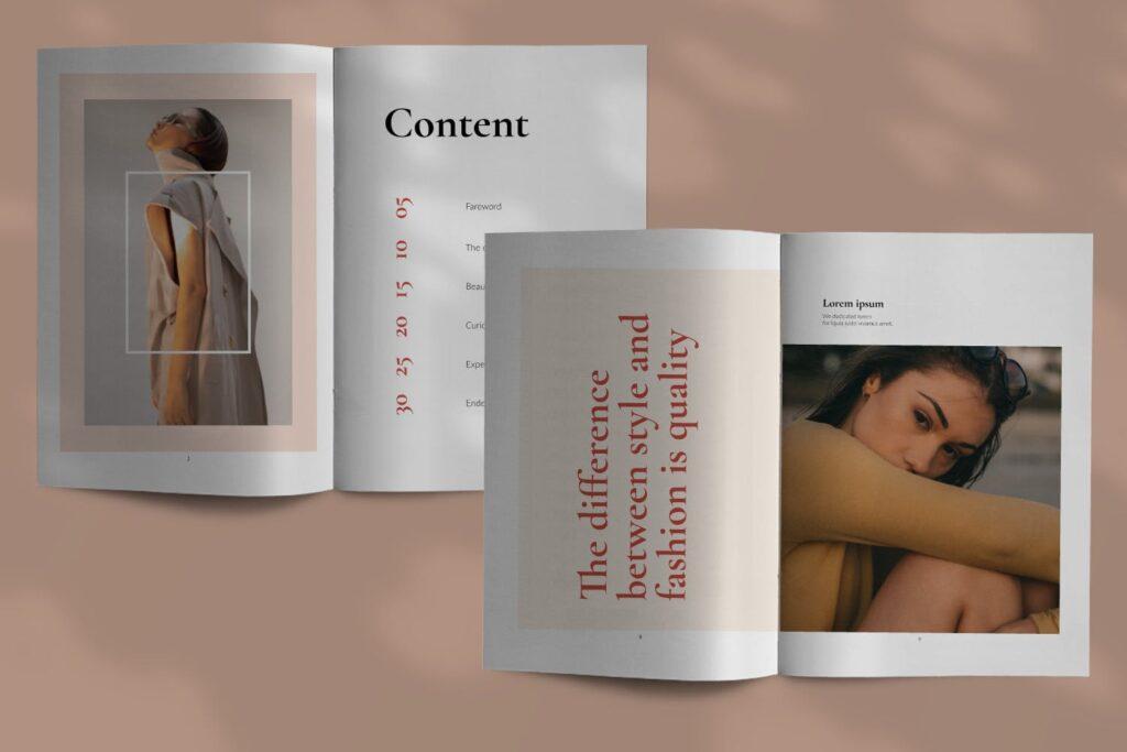 时尚潮流行业/室内设计工作室介绍画册杂志模版Luxury Brochure Catalogue minimal Corporate Agency插图(2)