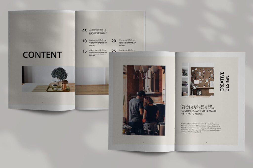 室内设计案例介绍/企业创意产品画册模板Luxville Fashion Magazine插图(2)