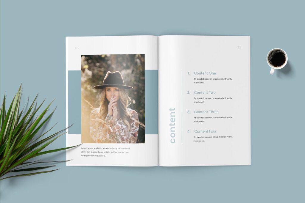 精致文艺时尚主题杂志主题画册模板Lyla Fashion Magazine Template插图(2)
