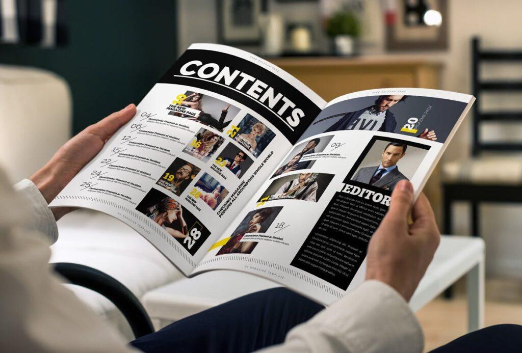 健身运动主题周刊杂志模板/Magazine插图(2)