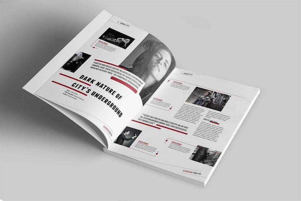 精英访谈采访主题杂志模板素材Magazine Template 8NSXE49插图(2)
