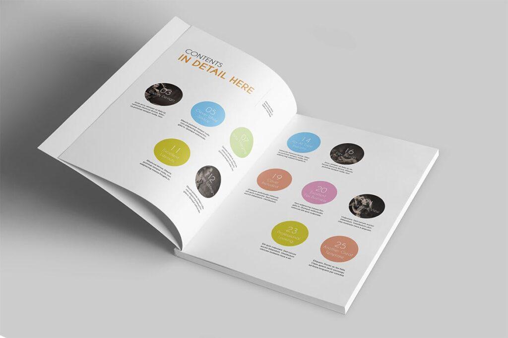 企业多用途杂志画册模板素材下载Magazine Template 4DG6APQ插图(2)