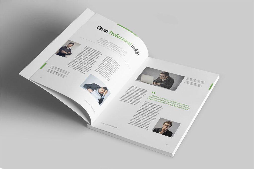 高端医学周刊/医疗咨询杂志画册模板Minimal Magazine插图(2)