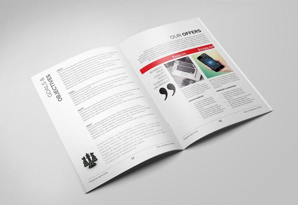 企业市场部业务提案展示画册杂志模板素材Minimal Business Proposal插图(2)