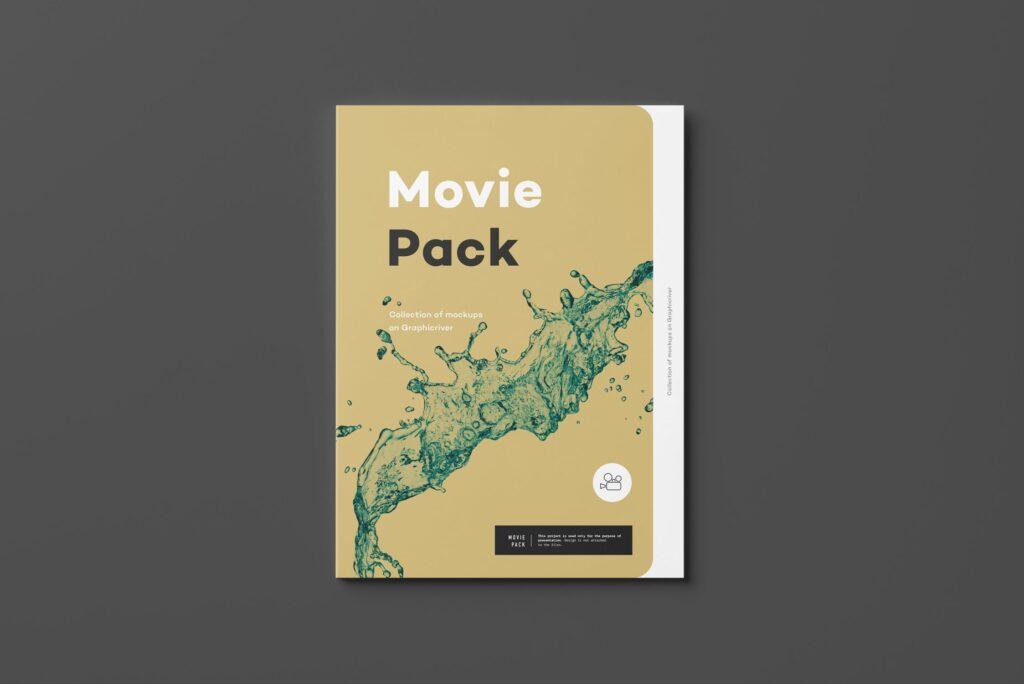 古典电影CD光盘包装/古典音乐唱片模型样机素材模型1Movie Pack Mockup 1插图(2)