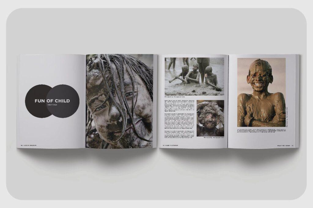 现代简约中性的杂志设计模板Muddy Photograph Magazine Template插图(2)