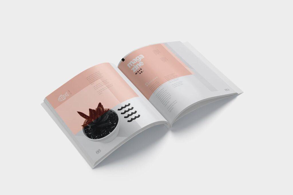 精致文艺杂志书籍封面内页样机模型下载8ydgm9u插图(2)