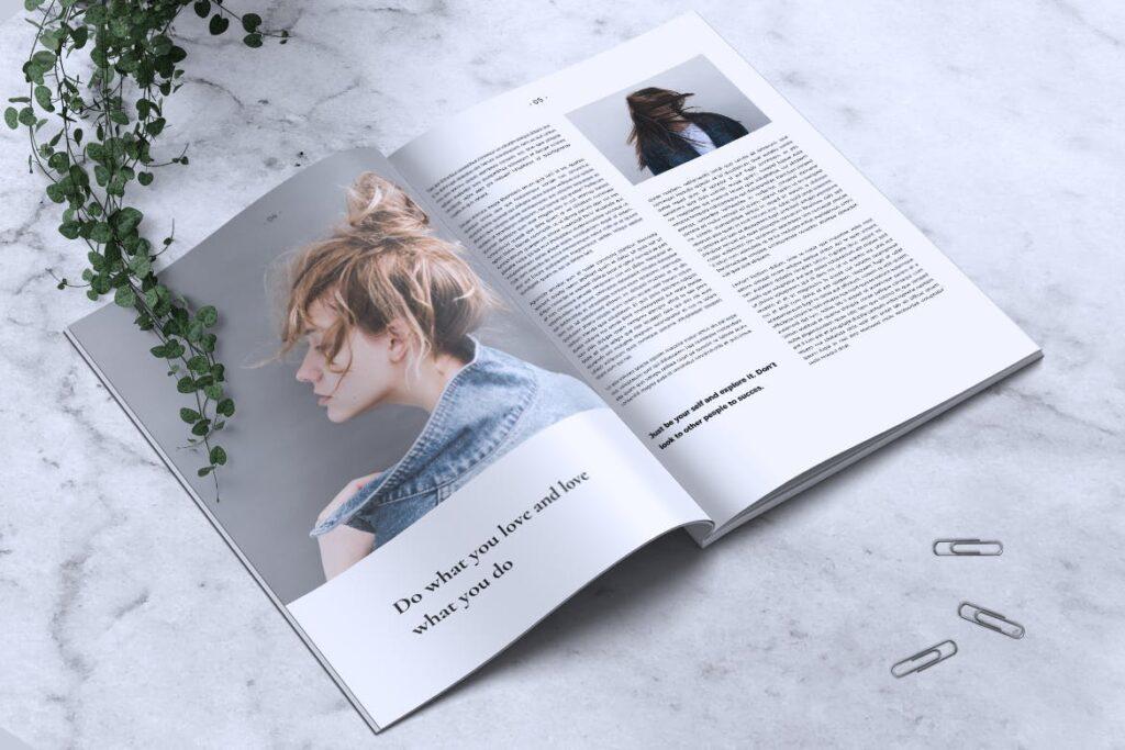简约企业商务小册子目录/多用途画册模板PLUMERY Minimal Magazines插图(2)