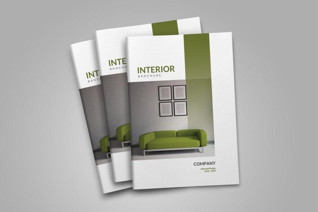 优雅简洁室内设计手册/目录/杂志画册模板PSD Interior Brochures Catalogs Magazine插图(2)