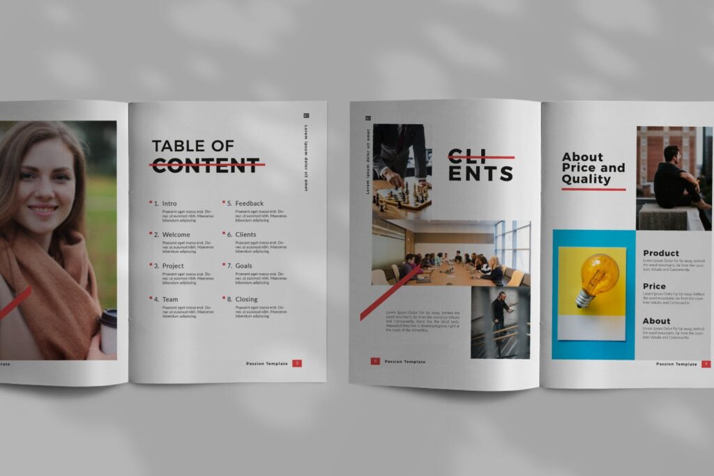 商务汇演/企业路演规划书模板素材Passion Brochure Minimal Business Company插图(2)