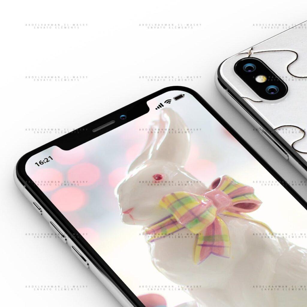 iPhoneX 手机模型样机/UI作品包装模型样机iPhoneX PSD Mock-Up插图(2)